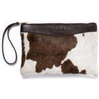 Mackenzie and George Womens Tetbury Clutch Bag Brown / White
