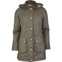 Barbour Womens Bower Wax Jacket Olive 10