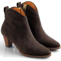 Fairfax & Favor Womens Regina Ankle Boots Tan Suede 6 (EU39)