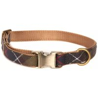 Barbour Tartan Webbing Dog Collar Classic Tartan Medium