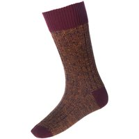 House Of Cheviot Firth Boot Socks Ochre Large