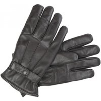 Barbour Mens Burnished Leather Gloves Dark Brown Large