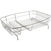 Delfinware Large Oval Dish Drainer Stainless Steel