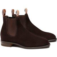 R.M. Williams Mens Suede Comfort Craftsman Boots Chocolate 7 (EU41)