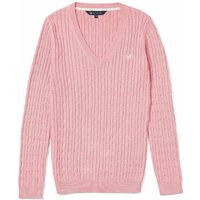 Crew Clothing Ladies Heritage V Cable Knit Cameo 8