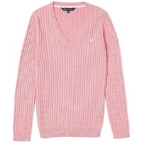 Crew Clothing Ladies Heritage V Cable Knit Cameo 16
