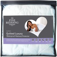 The Fine Bedding Company Quilted Luxury Waterproof Mattress Protector  Double