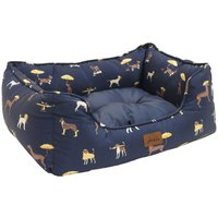 Joules Dog Print Dog Bed  Medium