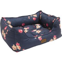Joules Navy Floral Dog Box Bed  Large
