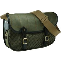 Croots Helmsley Tweed Netted Carryall Green One