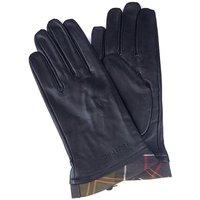 Barbour Tartan Trimmed leather Gloves Black/Classic Tartan Large