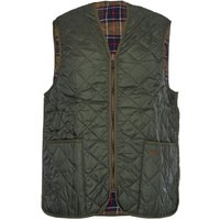 Barbour Quilted Waistcoat Zip-In Liner Olive 40