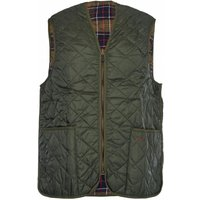 Barbour Mens Quilted Waistcoat Zip-In Liner Olive/Ancient Tartan 36
