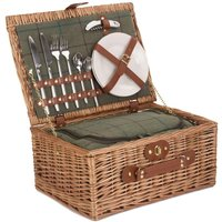 Willow Premium FH068 2 Person Green Tweed Hamper