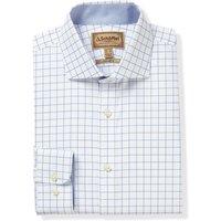 Schoffel Mens Greenwich Tailored Shirt Light Blue Diagonal 17 Inch