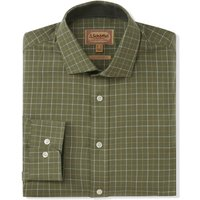 Schoffel Mens Newton Tailored Sporting Shirt Lovat Check 18 Inch