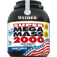 Weider Mega Mass 2000 Pulver Vanilla Cream 3000g