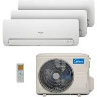 Ar Condicionado Multi Tri Split Hw Inverter Springer Midea 2X12000+1X24000 Btus Quente/Frio 220V 38MBPA42M5