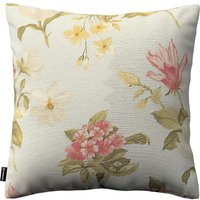 Kinga Cushion Cover Large Red, Yellow And Off White Flowers, Light Blue Background