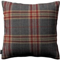 Kinga Cushion Cover Graphite/burgundy Tartan