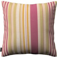Kinga Cushion Cover Purple/pink And Olive Stripes On Natural Linen Background