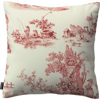 Kinga Cushion Cover Red Characters, Ivory Background