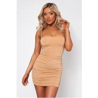 Amalfi Beige Ruched Bodycon Dress