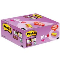 Post-it Super Sticky 47.6x 7.6mm Assorted (Pack of 24) 622- P24SSCOL