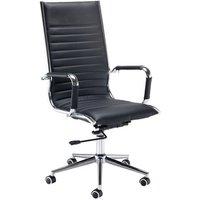Bari high back executive chair - black faux leather