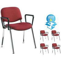 Click to view product details and reviews for Taurus Meeting Room Stackable Chair Box Of 4 With Chrome Frame And Fixed Arms Black.