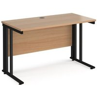 Click to view product details and reviews for Maestro 25 Straight Desk 1200mm X 600mm Black Cable Managed Leg Frame And Beech Top.