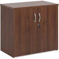 Universal double door cupboard 740mm high with 1 shelf - walnut