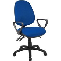 Vantage 200 3 lever asynchro operators chair with fixed arms - blue
