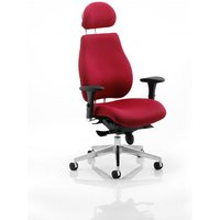 Click to view product details and reviews for Chiro Plus Ergo Posture Chair Wine With Arms With Headrest.