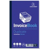 Click to view product details and reviews for Challenge Carbonless Duplicate Invoice Book 100 Sets 210x130mm Pack Of 5 100080526.