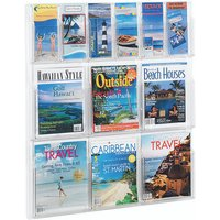 Safco 12 Pocket Deluxe Combination Magazine and Pamphlet Rack 5606CL
