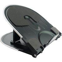 Q-Connect Aluminium Laptop Stand Black/Silver KF20077