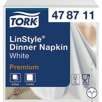 Tork LinStyle Dinner Napkins 4 Fold White (Pack of 50) 478711