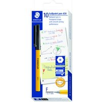 Click to view product details and reviews for Staedtler 430 F Stick Ballpoint Pen Fine Black Pack Of 10 430 F9.