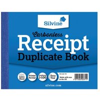 Click to view product details and reviews for Silvine Carbonless Duplicate Receipt Book 102x127mm Pack Of 12 720 T.