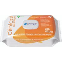Uniwipe Clinical Midi Wipes (Pack of 200) 1020