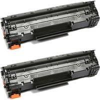 2 Pack - Compatible Canon 137 Toner Cartridge, Black (9435B001AA)