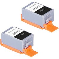 2 Pack - Compatible Canon BCI-15 Color Ink Cartridge (8191A003)