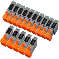15 Pack - Compatible Canon BCI-24 Ink Cartridge Set, Package Includes 10 Black and 5 Color Ink Cartridges