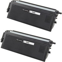 2 Pack - Compatible Brother TN460 Toner Cartridge, Black, High Yield