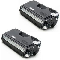 2 Pack - Compatible Brother TN560 Toner Cartridge, Black, High Yield