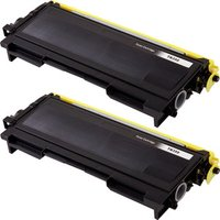 2 Pack - Compatible Brother TN350 Toner Cartridge, Black, High Yield
