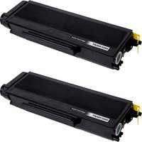 2 Pack - Compatible Brother TN580 Toner Cartridge, Black, High Yield