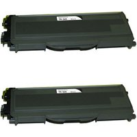 2 Pack - Compatible Brother TN360 Toner Cartridge, Black, High Yield