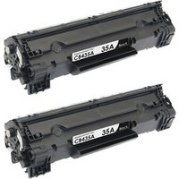 2 Pack - Compatible Replacement For HP 35A Toner Cartridge, Black (CB435A)